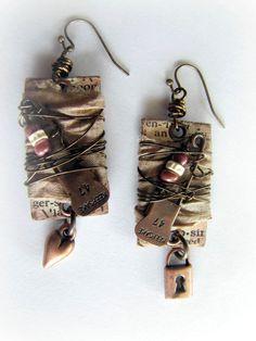 amanda davie mixed media earrings