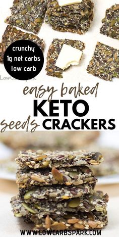 Healthy Crunchy Snacks, Healthy Crackers, Low Carb Crackers, Keto Snacks, Low Carb Summer Recipes, Low Carb Recipes, Healthy Recipes, Seed Crackers Recipe, Raw Pumpkin Seeds