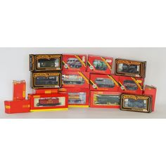 LOT 587: Eighteen assorted wagons by Hornby (14) and Mainline (4). Each boxed. Est. £30 - £40. Coming up in our #Silver #Jewellery #Toys and #Railwayana #Auction on Thursday 25th May. To include #Watches #Collectables #Pictures #China & #Antique #Furniture #May25 #whittonsauctions #Honiton #pin