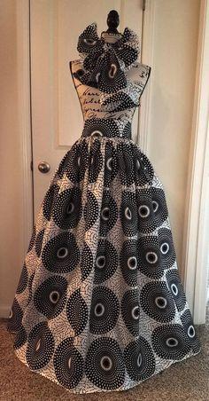Artículos similares a Custom Made African Print Ankara Maxi High Waist Skirt with Bow Tie or Head Wrap en Etsy Africanstylesforladies African Print Dresses, African Wear, African Attire, African Fashion Dresses, African Women, African Dress, African Print Skirt, African Inspired Fashion, African Print Fashion