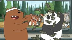 See more 'We Bare Bears' images on Know Your Meme! Ice Bear We Bare Bears, 3 Bears, Cute Bears, We Bare Bears Wallpapers, Panda Wallpapers, Cute Wallpapers, Cute Panda Wallpaper, Bear Wallpaper, Pardo Panda Y Polar