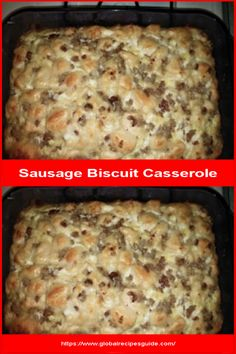 Sausage Biscuit Casserole - Daily World Cuisine Recipes Sausage Biscuits, Whats Gaby Cooking, Pancake Cake, Cup Of Cheese, Daily Meals, What To Cook, Casserole Dishes, Meal Ideas, Tasty