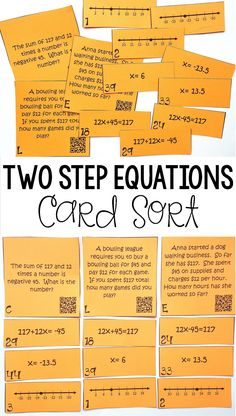 29 Delightful Two Step Equations images | Two step equations, Maths ...