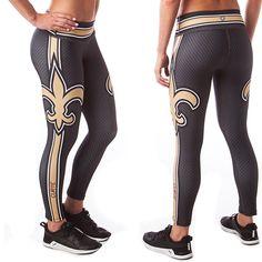 Curve New Orleans Football leggings #Saints #GamedayStyle #Football #leggings