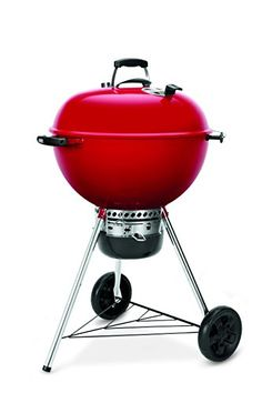 """Weber 14615001 Original Kettle Premium Limited Edition Charcoal Grill:   The iconic limited Edition red Weber original Kettle premium is perfect for holiday gifting. Featuring 363 square"""" of cooking space, the Weber original Kettle consists of a heavy Gau"""