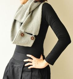 idea to make some of my regular scarves convertible infinity scarves!!