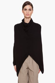 Helmut Lang black oversize turtleneck