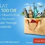 Get Flat Rs.500 Cashback on Domestic Flights Booking of Rs.2500 or more