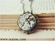 Steam Punk Necklace, Gothic Jewelry, Victorian Steampunk Jewellery