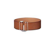 Bracelet in Barenia calfskin, stainless steel clasp (wrist size: 17.7 cm)