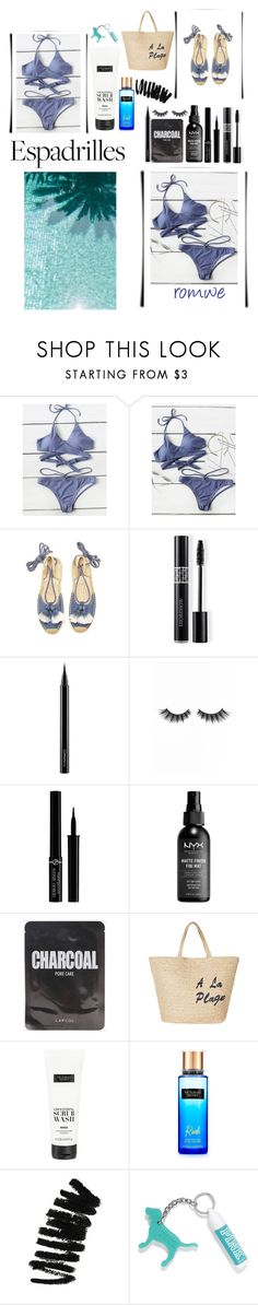 """summer !"" by ferial-braik ❤ liked on Polyvore featuring Soludos, Christian Dior, MAC Cosmetics, Violet Voss, Giorgio Armani, Joie, Victoria's Secret and Bobbi Brown Cosmetics"