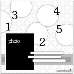 scrapbook layout, nice to use pattern paper background...