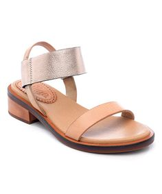 Look what I found on #zulily! Natural & Rose Gold Halo Leather Sandal #zulilyfinds