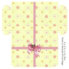 Gift Box - (There are tons of different templates on this site! Printable Box, Printable Crafts, Printables, Diy Gift Box, Diy Box, Gift Boxes, Gift Wraping, Paper Crafts Origami, Pretty Box