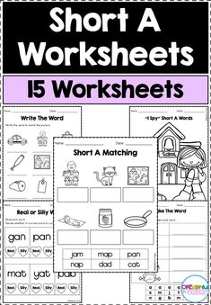 Short A Worksheets, English Worksheets Pdf, Teaching First Grade, Teaching Kindergarten, Phonics Activities, Reading Activities, Guided Reading, Teacher Resources, Classroom Resources