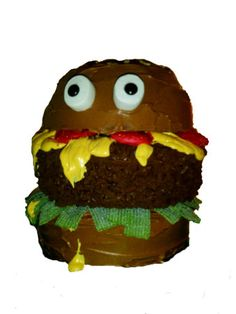 Mak'in an easy hamburger cake that will get tons of oohs and aahs is a cinch...