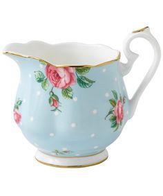 Polka Blue Vintage Creamer, Royal Albert