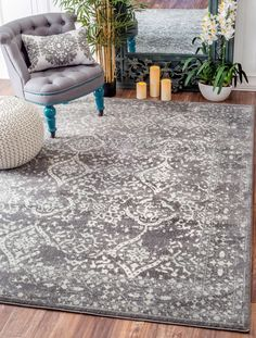 If you love the transitional flair of an erased floral patterned rug which is durable and easy to pile, then this is where your search ends. The ivory, light blue and silver color range available in this rug create the perfect look and is machine-made out of 100 percent polypropylene to bring a sense of calm and comfort to tired and worn-out feet.