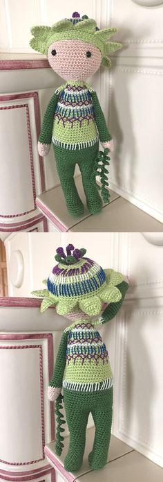Amigurumi flower doll Passionflower Paz made by Fabia C - crochet pattern by Zabbez