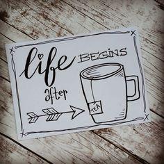 Life begins after tea - Handlettering Bullet Journal Quotes, Bullet Journal Writing, Bullet Journal Inspiration, Bullet Art, Hand Lettering Quotes, Drawing Quotes, Diy Blog, Album Book, Doodle Drawings