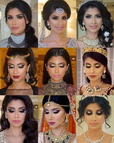 My final bride of 2015 gave me the pleasure of creating 9 different bridal looks on her for her royal #AbuDhabi wedding ❤️ She chose me to be her artist & stylist so she can try out all my signature looks and that's exactly what we did! Soft smokey, cat eye smokey, ombre eyes, pop of color, cut crease, glitter eyes, Swarovski Crystal eyes, cut crease, and glitter 3D smoke! Love love love. Ended 2015 Bridal with a bang for sure! #roshiniandraj