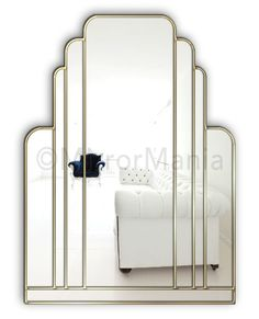 Manhattan Original Handcrafted Art Deco Wall Mirror - Art Deco - Mirrors