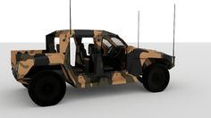 Hawkei PMV Blender Models, Jeep 4x4, Armored Vehicles, Golf Carts, Military, Army, Military Man