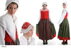 Vånga Östergötland Folk Costume, Costumes, Daily Dress, World Cultures, New Artists, Folklore, Traditional Outfits, Fashion Dresses, Europe