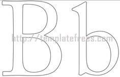 Free printable letter stencils for painting a z large small http large and lowercase printable alphabet letter b pic spiritdancerdesigns Image collections