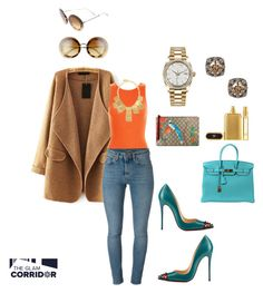"""""""Teal pumpkin"""" by theglamcorridor ❤ liked on Polyvore featuring Hermès, Gucci, Rolex, Miu Miu, New Look, Christian Louboutin, Yves Saint Laurent, Kenneth Jay Lane and Tom Ford"""
