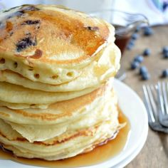 Just add an egg and milk for the fastest and fluffiest homemade pancakes! Homemade Fluffy Pancake Mix makes it easy!