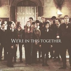 Image de harry potter, hogwarts, and together Harry Potter Quotes, Harry Potter Love, Harry Potter Universal, Harry Potter Fandom, Harry Potter World, Lord Voldemort, Ron Weasley, Fred Weasley Death, Expecto Patronum Harry Potter