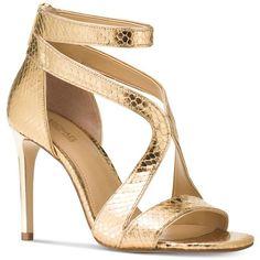 5fc6f075c7eee Michael Michael Kors Harlen Strappy Open-Toe Dress Sandals ( 150) ❤ liked on