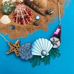Sweet Jars, Sunflower Necklace, Shell Earrings, My Precious, Very Lovely, Pin Badges, Statement Earrings, Sea Shells, Seaside