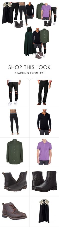 """Umm..."" by roleplaygirl-190 ❤ liked on Polyvore featuring Dockers, Icebreaker, Unsimply Stitched, Hackett, Robert Graham, Frye, Laredo, Timberland, men's fashion and menswear"