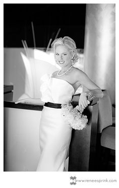 Bridal portraits, downtown bridal portraits, city glam, modern bridal portrait, fashion, Mad Men wedding, winter wedding, black & white wedding ©Renee Sprink Photography | Raleigh, NC wedding photographer