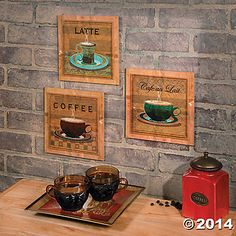 Coffee Wall Prints $12.98 Oriental Trading Co