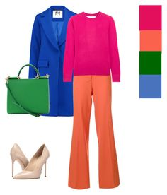 Colorblock by levitskaia1992 on Polyvore featuring polyvore, fashion, style, MICHAEL Michael Kors, Milly, Diane Von Furstenberg, Massimo Matteo, Dolce&Gabbana and clothing