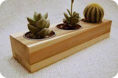 Wood Desk Planter