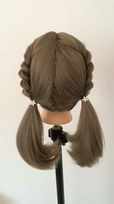 28 Spring Cute Braids Ponytail Hairstyles braided hair tutorial for women or girl - No matter the length of hair, girls can have braided hair style. But this year, girls may as well b - Braided Ponytail Hairstyles, Bun Hairstyles For Long Hair, Girl Hairstyles, Braid Hair, Hairstyle Braid, Images Of Hairstyle, Ponytail Easy, Hair Ponytail Styles, Braided Buns