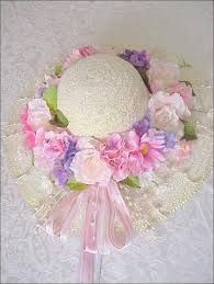 Image result for how to decorate a straw hat with flowers