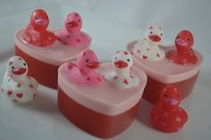 Valentine's Day Love Ducky Soap - Single Bar by OrangeUGladSoap on Etsy https://www.etsy.com/listing/585444561/valentines-day-love-ducky-soap-single