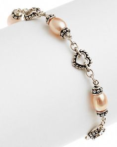 HONORA Silver Pearl Bracelet
