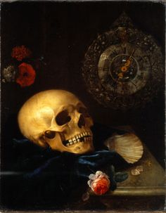 vanitas still life around 1700.