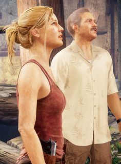 Elena and Sully . .Uncharted 4