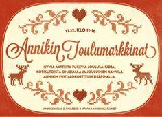 Olemme Annikin Joulumarkkinoilla 13.12.2014