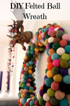 Felted Ball Wreath