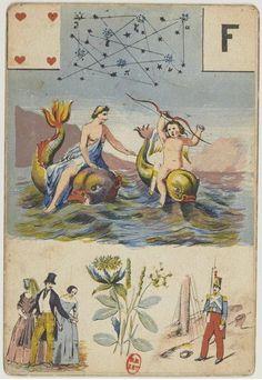 [Jeu de cartomancie] : [jeu de cartes, estampe] / Melle Lenormant. 1835 (Source: bnf.fr)