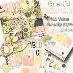 garden Owk - Kit - By Neia Arantes [NA_Garden Owl] - $6.99 : Digiscrappers Brasil - Store