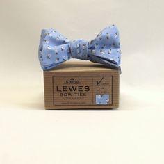 Blue Cotton Bow Tie - £25.00